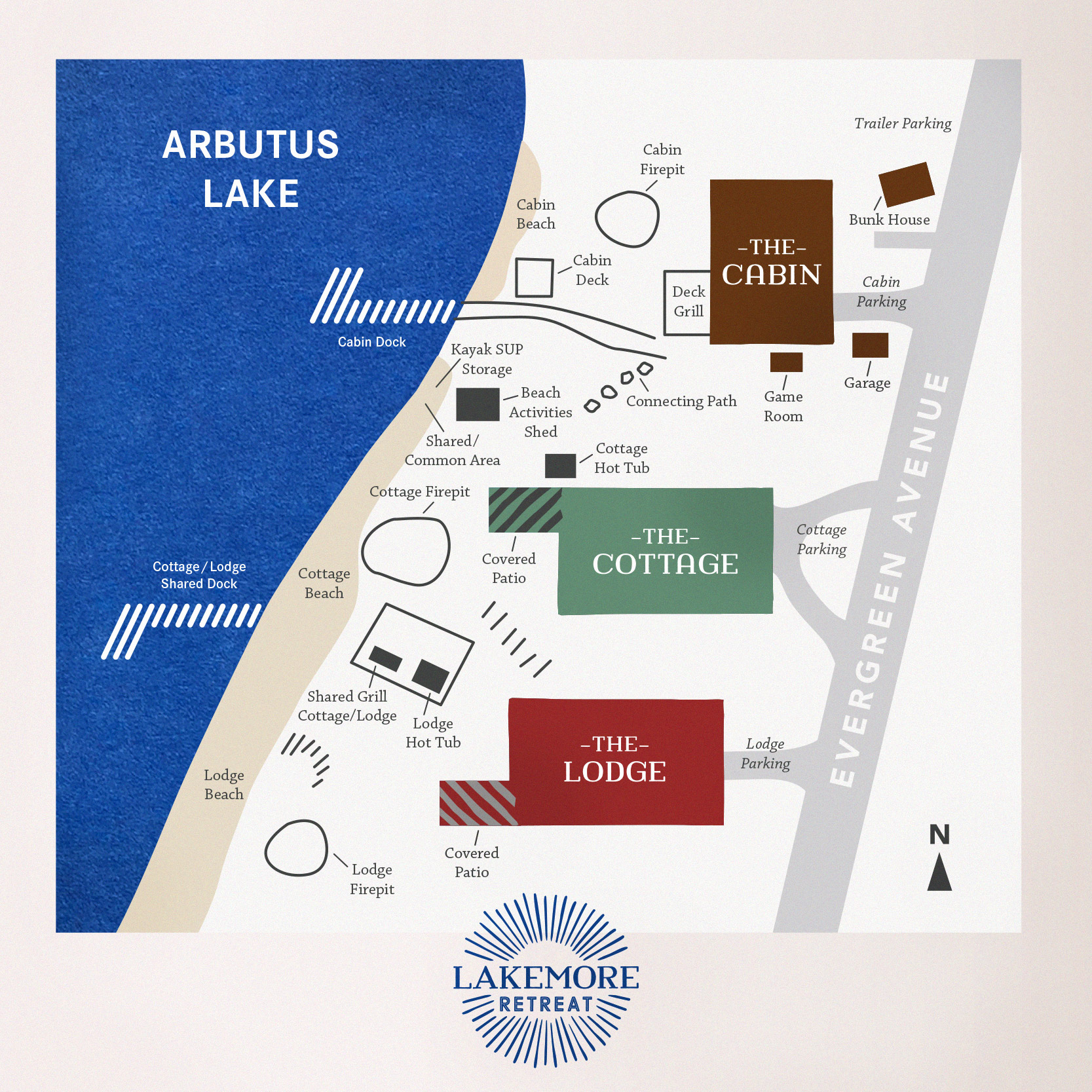 Lakemore Retreat Map